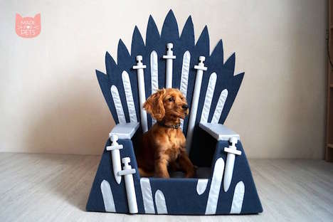 TV-Inspired Handmade Pet Beds - Kate Agafonova Uses Foam Rubber and Textiles in This Design