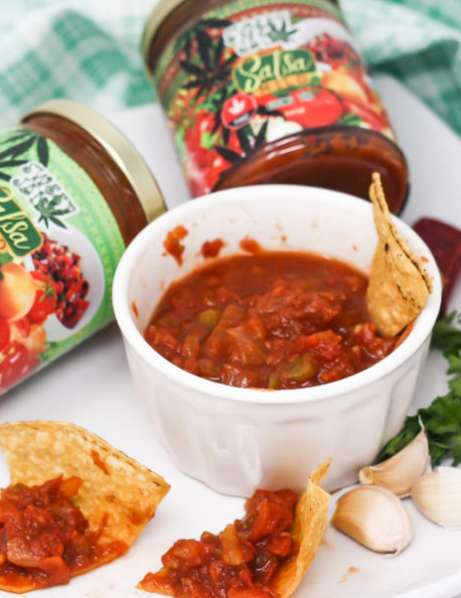 Mild CBD-Infused Salsas - Sweet Jane's Mild Salsa Contains 400mg of CBD in a Jar