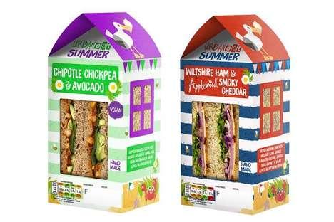 Summery Seaside Sandwich Packaging