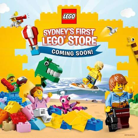 Immersive LEGO  Retail Experiences - The New LEGO Store in Sydney Boasts Inspiration & Immersion