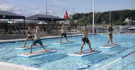 Aquatic Yoga Practice Boards
