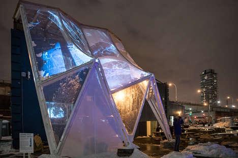 Hexagonal Building Raincoat Prototypes