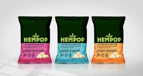 Flavorful CBD-Infused Popcorn