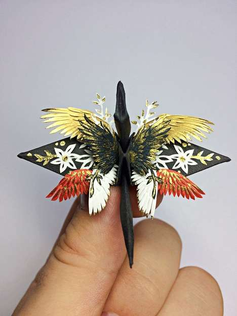 Vibrant Incredibly Detailed Origami