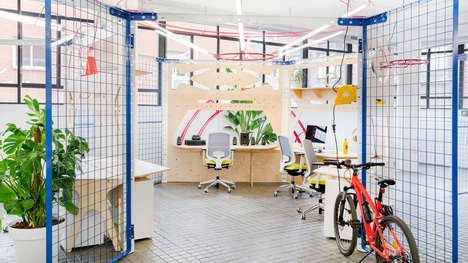 Colorful Design Innovation Labs - Nacho Martin's Creative Lab Has a Series of Practical Workstations