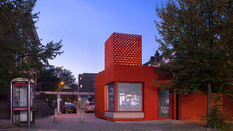 Bold Red Library Extensions - We Made That Tackles a Full Renovation for the East Street Library