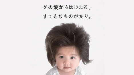 Toddler-Headed Hair Campaigns - This Pantene Campaign Spotlights Chanco — a Baby with Lush Hair