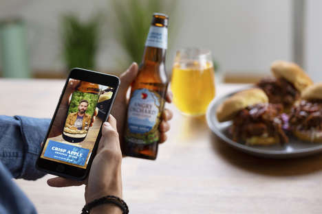 AR Cider Pairing Apps - The Angry Orchard Cider+Food App Simplifies Pairings with AR