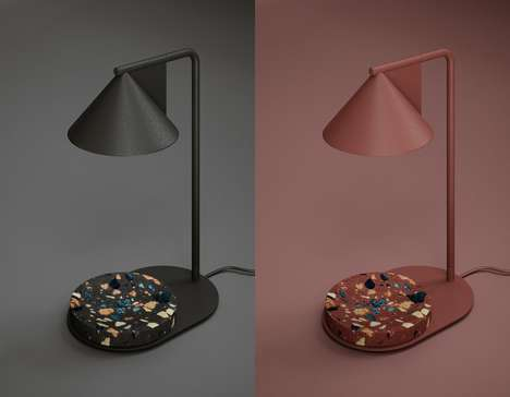 Raw Stone-Infused Lamps