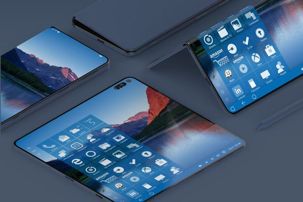 Desktop OS-Inspired Folding Smartphones - This Conceptual Microsoft Surface Note is Efficient