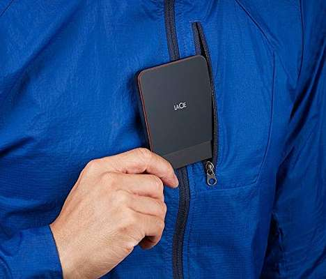 Universal Pocket-Sized SSDs - The LaCie Portable SSD 2TB Conveniently Keeps Data on Hand