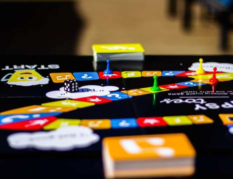 Alcohol-Integrated Board Games - The 'Tipsy Toes' Drinking Board Game is for Players Aged 21 and Up