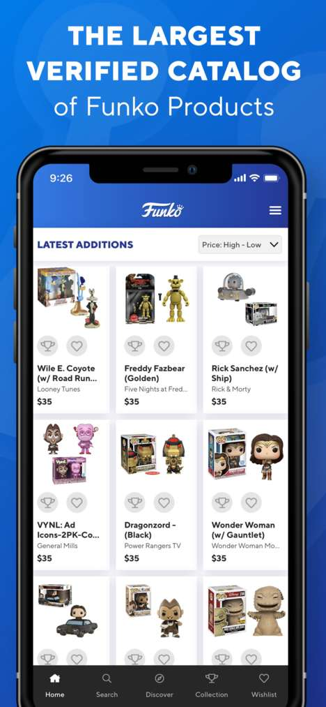 Toy-Tracking Collector Apps - Funko's App Helps Users Track a Collection, Manage Wish Lists & More
