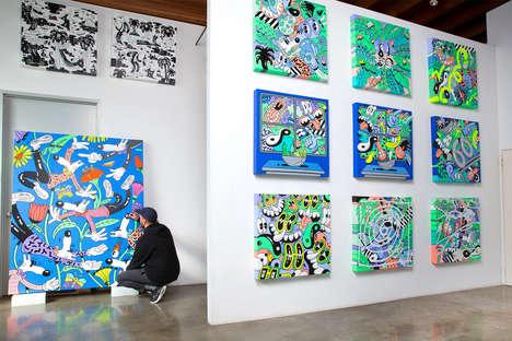 Cartoon-Esque Modern Exhibitions