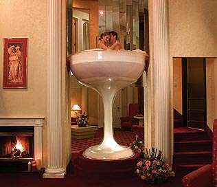 In Room Champagne Glass Hot Tub