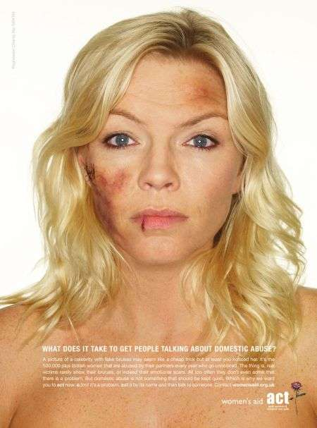 Celebs Photoshopped For Domestic Violence