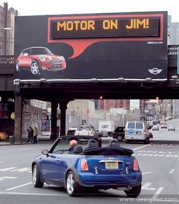 Billboards that Talk Directly to Mini Owners