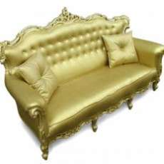 Plastic Fantastic Gold Sofa by Studio JSPR