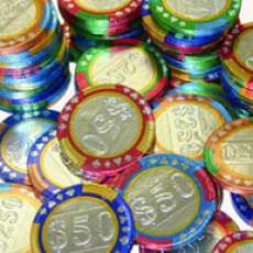 Chocolate Poker Chips - Not Recommended for Hold-em