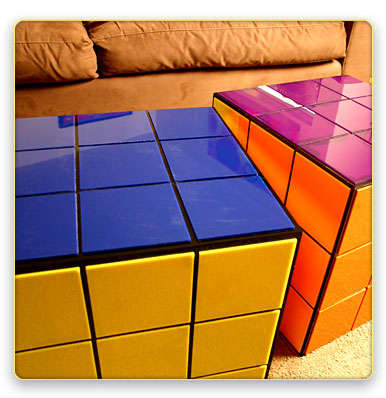 Rubik's Cube Table - Bring Back the 80's in Your Living Room