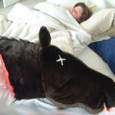 Godfather Horse Head Pillow
