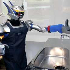 Kitchen Robot Does The Dishes!