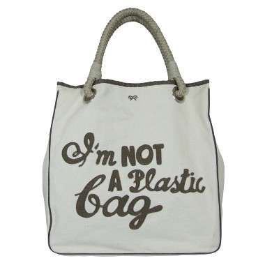 "Viral Eco Totes - Anya Hindmarch ""I'm Not A Plastic Bag"" for Environmental Shopper"