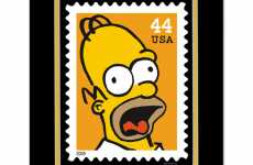 """The Simpsons"" Stamps - USPS Releases Set of Sticky Cartoon Collectibles"