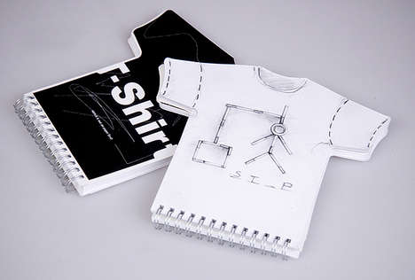 Shapely Notebooks - T-Shirt Shaped Sketchbook Helps Designers Visualize Final Product