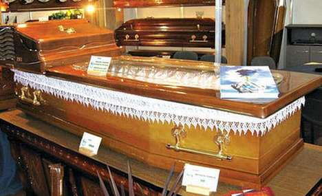 Wooden Caskets With Built-In AC Ensure a Cool Burial