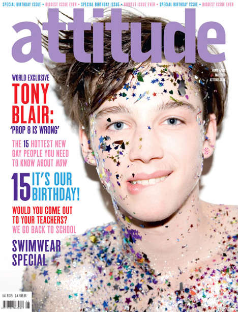 Glittery Boys on Magazine Covers