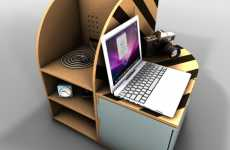 Compact Cardboard Furniture - Pedro Gomes' Sustainable & Collapsible Home Decor
