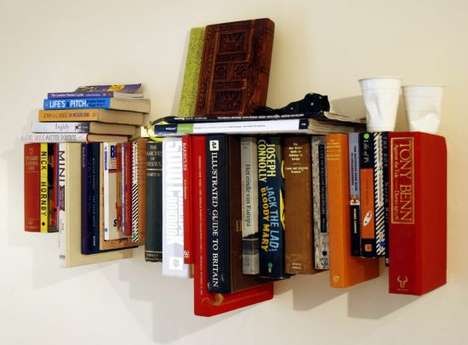 Green DIY Bookshelves