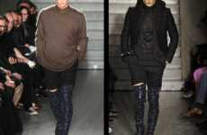 Glittery Thigh-High Male Boots - Givenchy Gets Men on Over-the-Knee Footwear