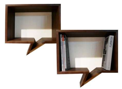 Speech Bubble Bookshelves