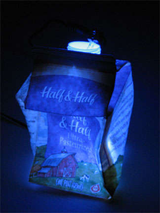 Glowing Milk Cartons