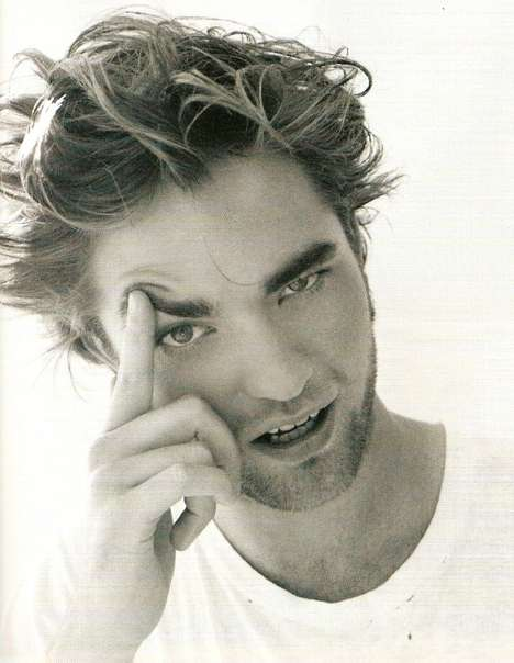 Messy Hair Photo Shoots - Robert Pattinson by Matt Jones in i-D Magazine