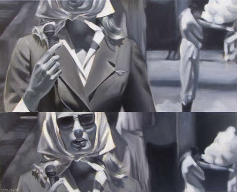 Dawn Dudek Transforms Film Scenes Into Dramatic Art on Canvas