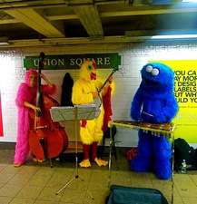 Subway Hoedowns - The Xylopholks Entertain New Yorkers In Furry Animal Costumes