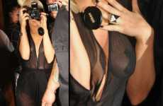 Transparent Tees & Tape Pasties - Lady Gaga Shows the Paparazzi That Less is More