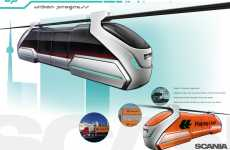 Futuristic Suspended Trains - Scania 'U.P. Urban Progress' by Jason Battersby