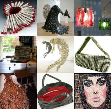 97 Recycled Art Pieces