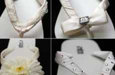 Wedding Flip-Flops - Fancy White J*Flops Sandals Are Perfect For a Seaside Wedding