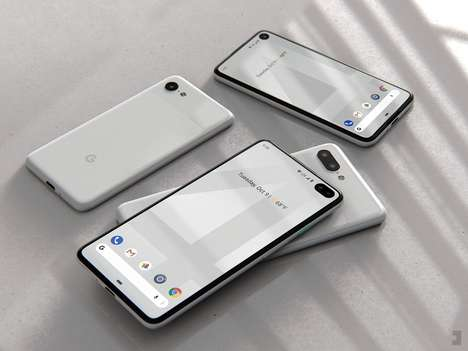 Next-Generation Bezel-Free Phones - The Conceptual Google Pixel 4 by Jonas Dähnert is Notch-Free