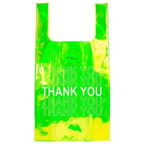 Exclusive Neon Shopper Totes