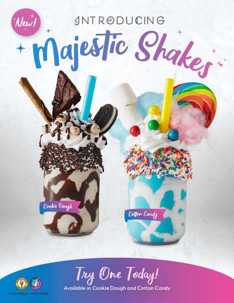 "Extravagant Dessert Milkshakes - These Over-the-Top Shakes Support the Creation of ""Sweet Selfies"""