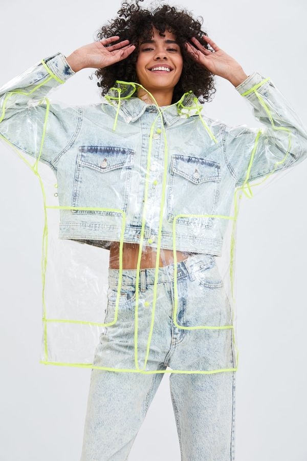 Playful Fast Fashion Raincoats - Zara's Transparent Raincoat Fuses Function With Fun Design Details