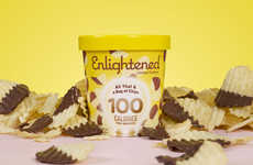 Potato Chip Ice Creams - Enlightened's 'All That & a Bag of Chips' Reinvents a Late-Night Treat