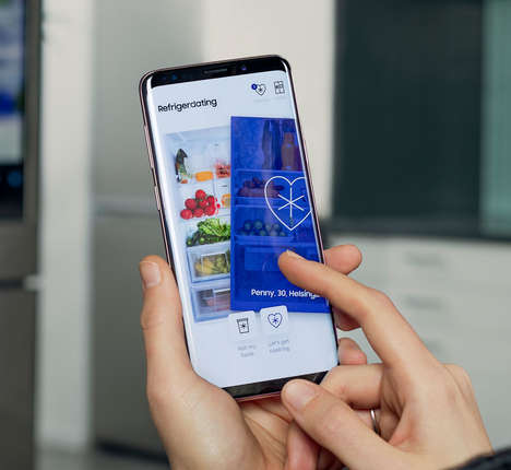 Fridge-Based Dating Apps - Samsung's 'Refrigerdating' Matches People on the Contents of Their Fridge