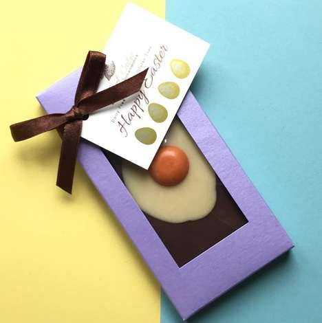 Egg-Free Easter Chocolates - So Sweet Couture's Chocolate 'Splatt Egg' Bar is Vegan-Friendly